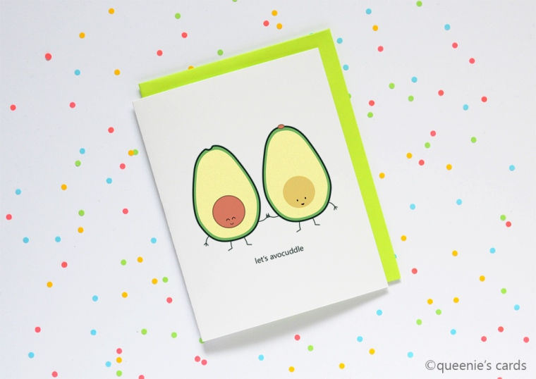 queeniescards_photo_greeting card_avocuddle_product_1